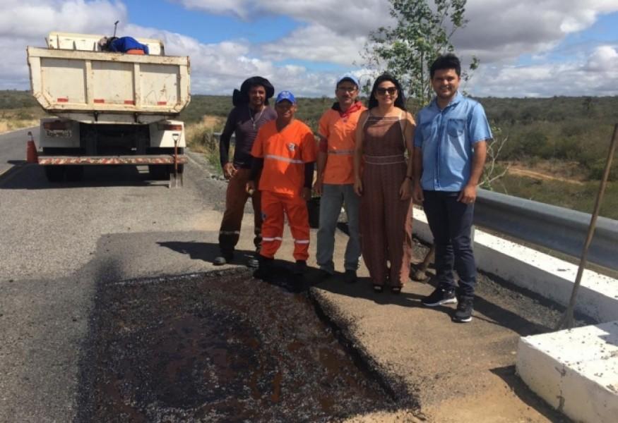 Rodovia de Sossego passa por restauração